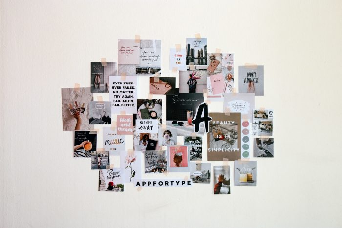 vision board motivation collage