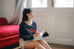 journaling girl